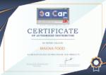 Сертификат об эксклюзивной дистрибуции продукции SaCar Forni в России